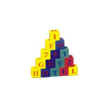 Kostky abeceda+čísla EVA pěna