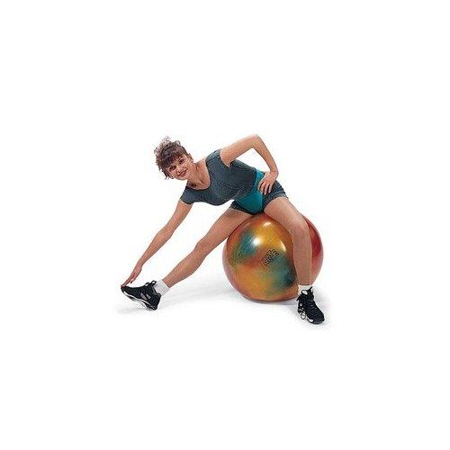 Barevný gymnastický míč na posilování a protažení celého těla