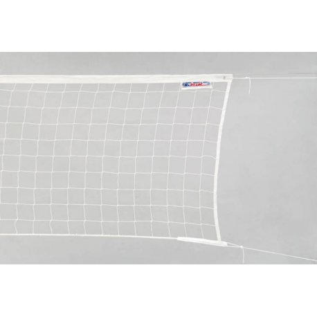 Síť na volejbal s lankem bílá