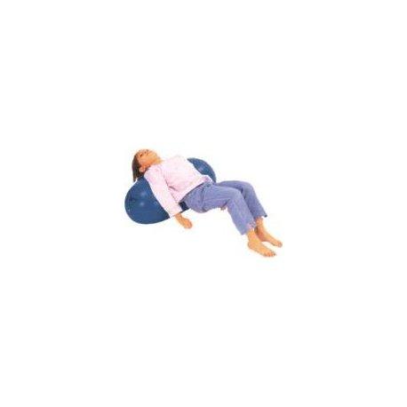 Nafukovací cvičební a rehabilitační válec 40 x 70 cm v modré barvě