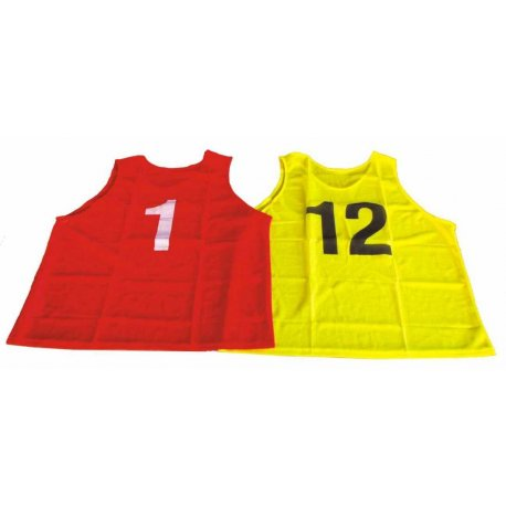Rozlišovací dres s číslem sada 12ks