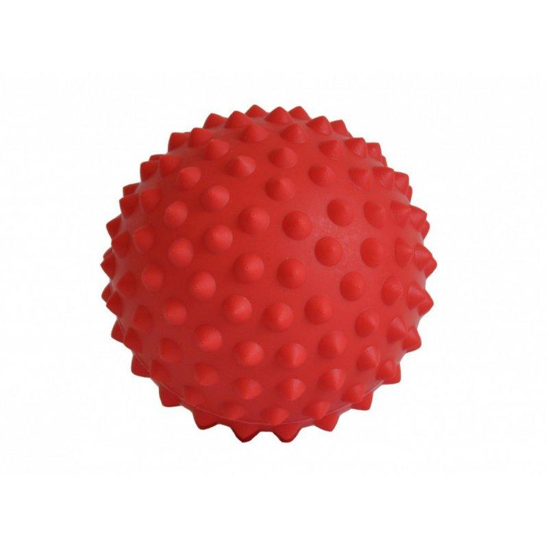 Červený míček s masážními výstupky