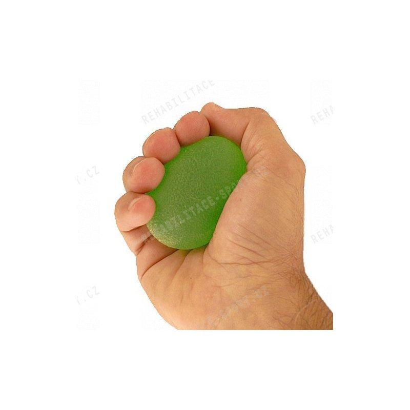Cvičební vajíčko k rehabilitaci prstů, ruky a předloktí