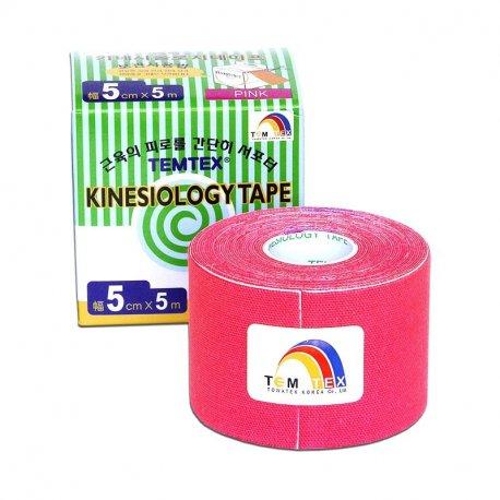 TEMTEX kinesio tape Classic, růžová tejpovací páska 5cm x 5m