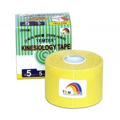 TEMTEX kinesio tape Classic, žlutá tejpovací páska 5cm x 5m