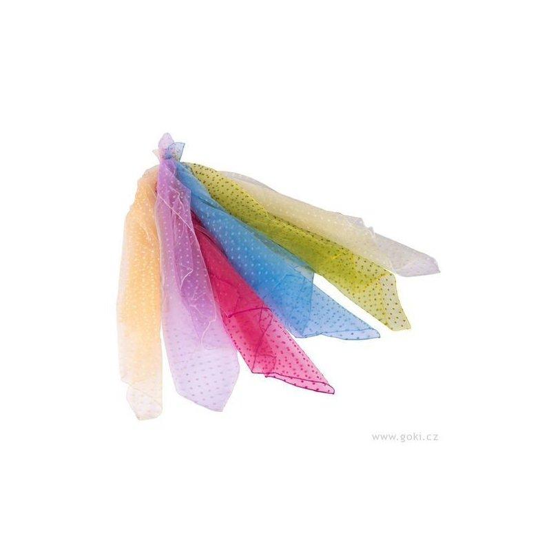 Hračka pro děvčátka - barevné šátky s puntíky