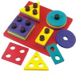 Geometrické tvary navlékací