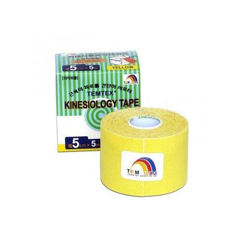 TEMTEX kinesio tape Tourmaline, žlutá tejpovací páska 5cm x 5m