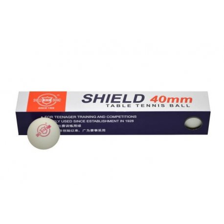 Míčky stolní tenis Shield bílé