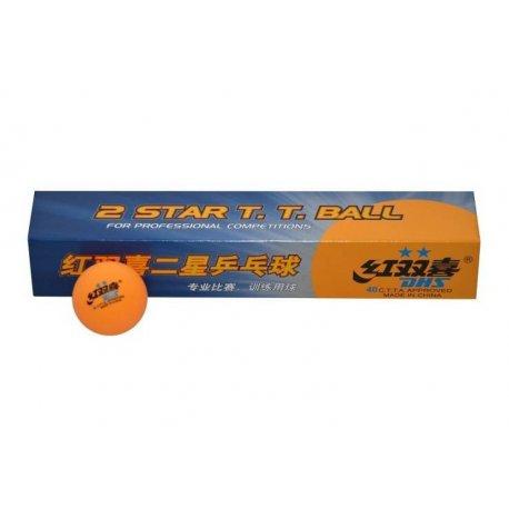 Míčky stolní tenis DHS 2x ** oranžové- žluté