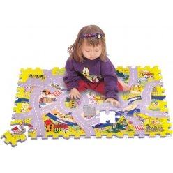 Město silnice pěnové puzzle podložka 54 ks