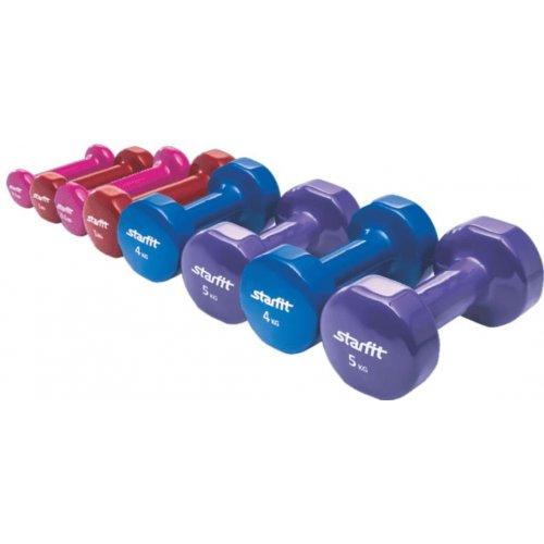 Činky kovové jádro - 2 x 3 kg fialové