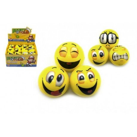 Pěnový míček 6 cm - Smajlíci - různé varianty
