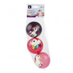 Pěnové míčky Jednorožci 7 cm - 3 ks