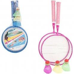Badmintonová dětská sada 2 rakety + 3 košíčky
